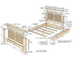 bed frames blueprints wood plans frame how to build a amazing diy woodworking
