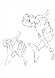 Barbie Sirene Coloring Pages Print Coloring