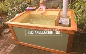 homemade rectangular hot tub build with an easy plan