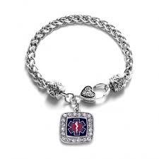 life emt ems braided charm bracelet