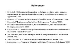 Environmental valuation techniques a review ResearchGate Inside