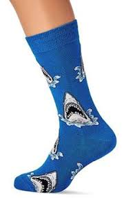 Adult <b>Angry Shark</b> Pattern Cushion Crew Socks Men Clothing