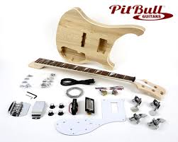 pit bull guitars rca 4 electric bass guitar kit diy guitar kits bass guitar kits