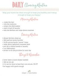 Daily Routine Printable Daily Cleaning Routine Tips And A Free Daily Cleaning