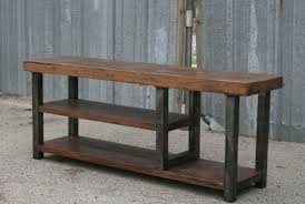 bench with shelf. Industrial Bench With Shelf