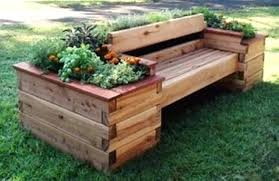 benches outdoor bench with planter boxes garden idea potting storage outdoor bench with planter boxes