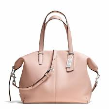 Coach    BLEECKER COOPER SATCHEL IN PEBBLED LEATHER ... love the rose  color! so, so beautiful!