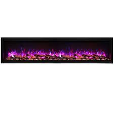 amantii sym 88 xt symmetry xt 88 extra tall built in glass electric fireplace w black steel surround