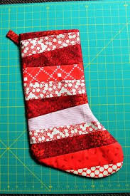 For my fellow pinners who are in to DIY. Quilted Christmas ... & Quilt-as-you-go Christmas stocking tutorial Adamdwight.com