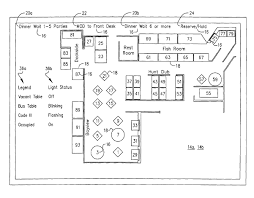 plan of a bathroom