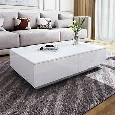 high gloss led coffee table