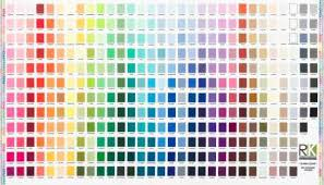 Kona Printed Color Chart Fabric Panel