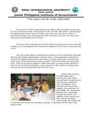 Accomplishment Report-Christmas Party - Rizal Technological ...