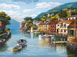 village on the water painting sung kim village on the water art painting