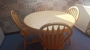 solid pine round table and chairs