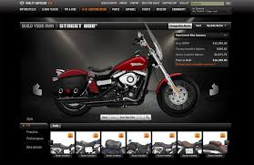 harley davidson expands h d1 bike builder tool for all non cvo