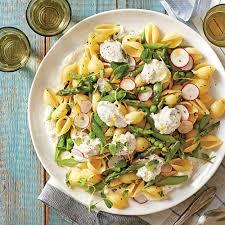 Light Spring Dinners Pasta Shells With Spring Vegetables Recipe Myrecipes