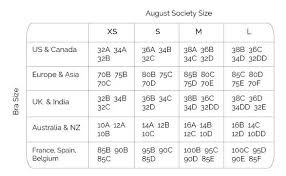 Size Guide August Society Singapore Swimwear Bikinis