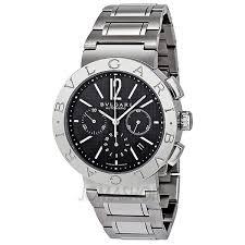 bvlgari chronograph automatic black dial stainless steel men s bvlgari chronograph automatic black dial stainless steel men s watch bb42bssdch