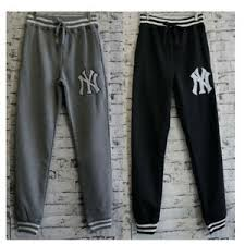 Mens Winter Striped Cuff <b>Track</b> Pants <b>100</b>% <b>Polyester</b> Fleece Low ...