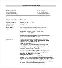Example Of Federal Government Resumes Examples Of Federal Resumes Threeroses Us