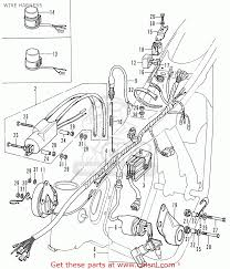 honda cd175 t4 wire harness schematic partsfiche wire harness schematic
