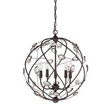 quoizel sedona bronze multi light transitional orb pendant