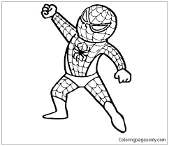 Spiderman or spider man coloring book. Baby Spider Man Coloring Pages Spiderman Coloring Pages Free Printable Coloring Pages Online