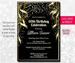 60 birthday invitations 60th birthday invitation 60th birthday party invitation 60th
