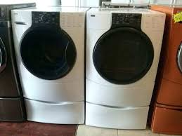 kenmore elite washer and dryer. kenmore elite he3 front load washer and dryer set w pedestal o