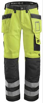 Snickers Trousers Size Chart Snickers Workwear 3233 Hi Vis Holster Pocket Kneeguard Trousers