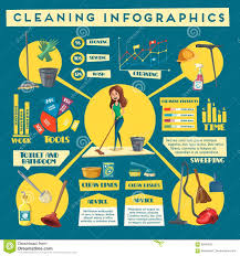 House Cleaning Service Infographics Design Stock Vector