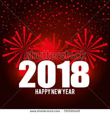 happy new years postcard happy new year 2018 postcard stock vector 2018 750590428