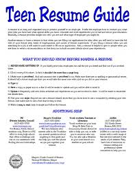 ... Example Resume Teenager Business Letter Spacing After Date resume sample