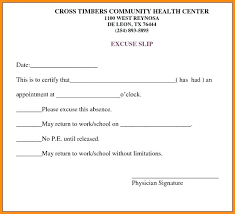 Medical Excuse Template Mymuso Co