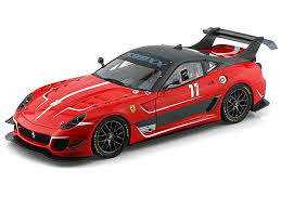 The engine has all the wiring and tubing that you'd get on a real 599. Ferrari 599xx Evo 11 Elite Edition 1 18 Red Hot Wheels Car Model Ferrari Diecast Cars