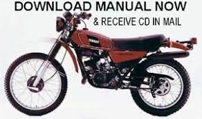 yamaha dt manual yamaha dt125 dt175 1977 1980 factory repair service shop manual on cd