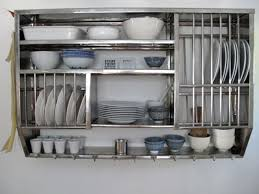 ... Metal Kitchen Wall Shelves Stainless Material Racks Hanger Bottom White  Colored Wall Modern Look Metal Kitchen ...