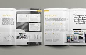 Classic Case Study Booklet Brochure Design Stock Vector               View Case Study    CAM