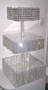 diy crystal chandelier cake stand light fixtures design ideas