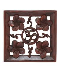 om hand carved wooden wall hanging on indonesian wooden wall art with wood om wall hanging handcarved in bali