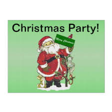 Santa Claus Cute Animals Merry Christmas Party Yard Sign