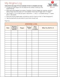 blood pressure readings log cardiac rehabilitation angina log