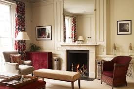 Cosy Red & Cream Living Room in a Victorian flat designed by duo Lamber &  Thurnherr