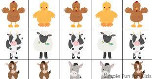 Farm Animal Patterns Printable Simple Fun For Kids
