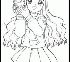 Coloring Pages Of A Girl Draw Printable