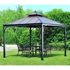 bay gazebo exterior luxury outdoor metal roof home depot hampton canopy swing pergola replacement parts replac