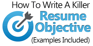 what to write in resume objective how to write a killer resume objective examples included