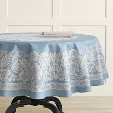vintage fl jacquard tablecloth round 70