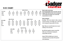 Youth Baseball Pants Size Chart Product Information Badger Sport Athletic Apparel